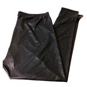 Torrid faux leather leggings size 2